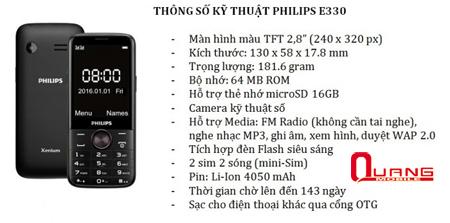 Nhung mau dien thoai Philips pin khung gia re dang mua hien nay